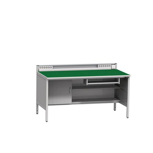 Svařovaný antistatický pracovní stůl, 94 x 160 x 81 cm