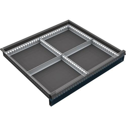 děliče pro skříň 70 x 72 cm, pro zásuvky 6 až 12 cm, 4 přihrádky