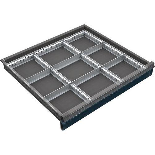děliče pro skříň 70 x 72 cm, pro zásuvky 6 až 12 cm, 9 přihrádek