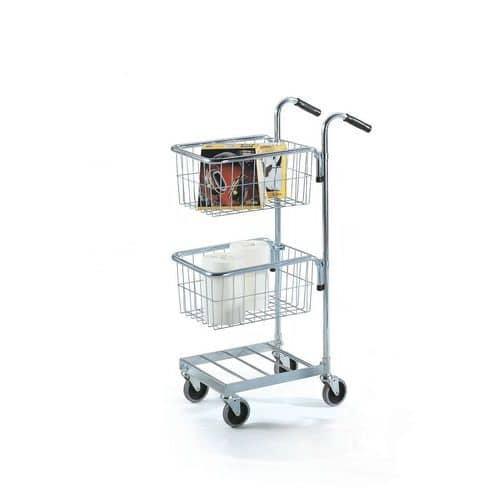 Malý policový vozík se dvěma koši, do 35 kg
