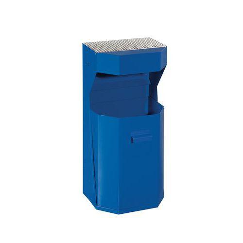 Kovový odpadkový koš s popelníkem,<br>objem 50 l