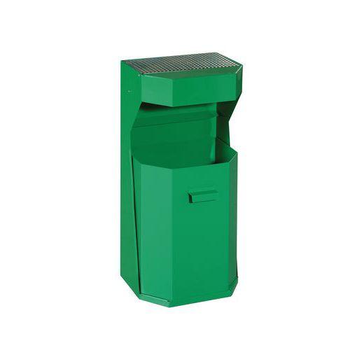 Kovové venkovní odpadkové koše Chafer s popelníkem, objem 50 l