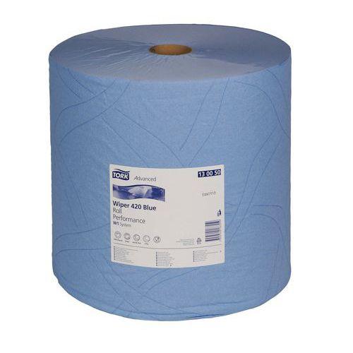 Průmyslové papírové utěrky Tork Advanced 420 Blue 2vrstvé, 1 500