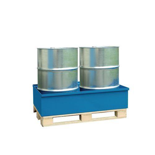 Kovové záchytné vany, kapacita 240 l, pro 2 sudy