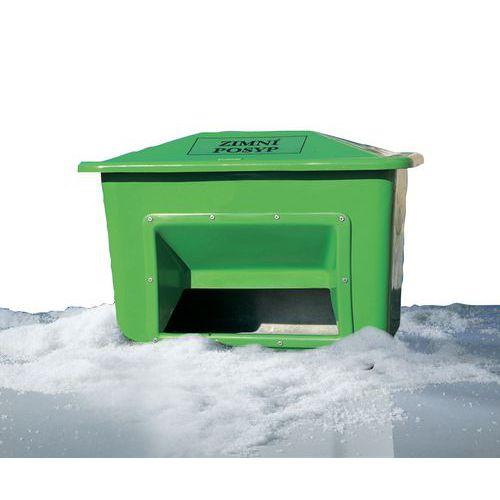 Nádoba na zimní posyp, 220 l, zelená - Prodloužená záruka na 10 let