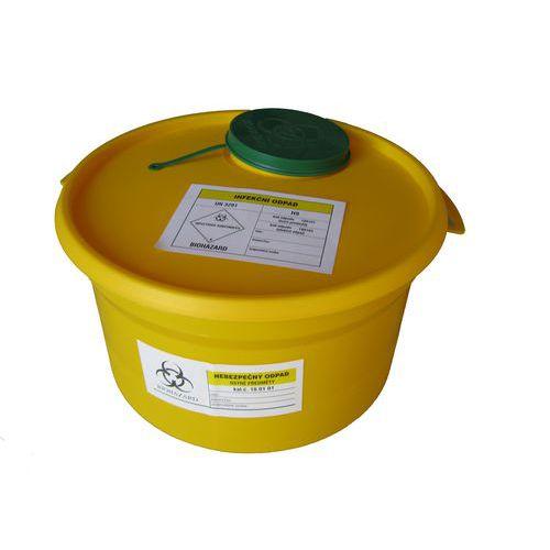 Nádoba na zdravotnický odpad, žlutá, 5 l - Prodloužená záruka na 10 let