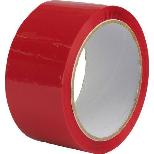 Lepicí páska, šířka 48 mm, červená
