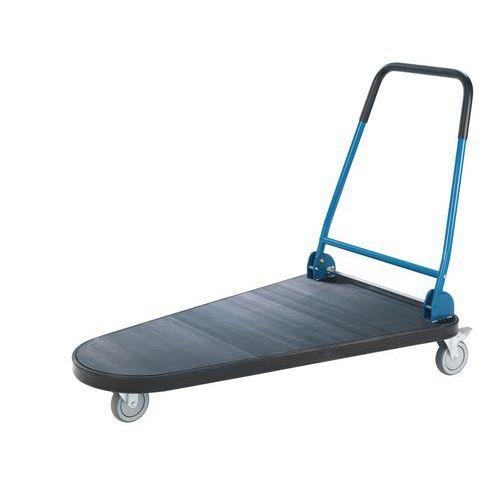 Plošinový vozík se sklopným madlem, tvar U, do 300 kg
