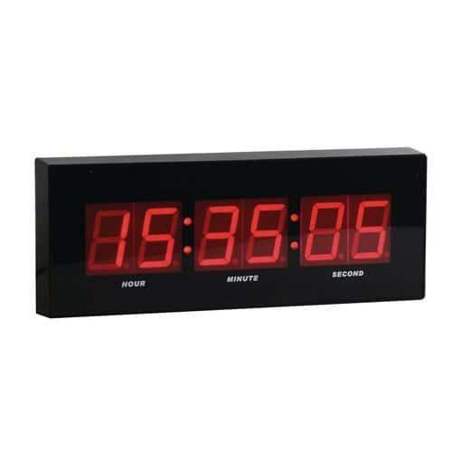 LED digitální hodiny DG2 Manutan, šířka 31 cm