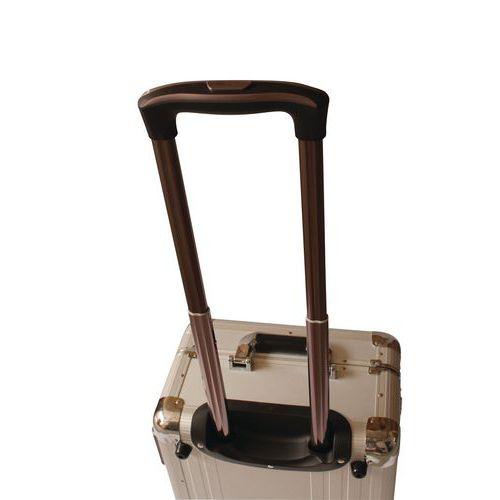 Hliníkový kufr s kolečky Manutan, 485 x 340 x 210 mm