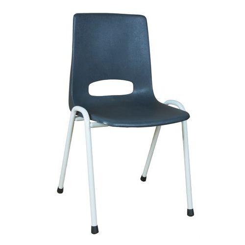 Plastová jídelní židle Pavlina Grey Light, antracit