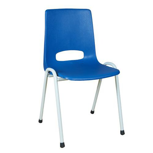 Plastová jídelní židle Pavlina Grey Light, modrá