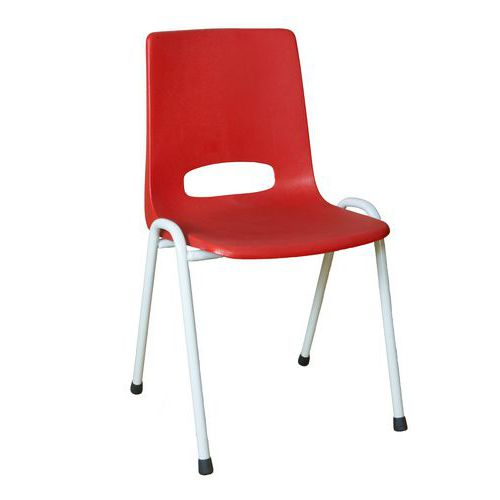 Plastová jídelní židle Pavlina Grey Light, červená