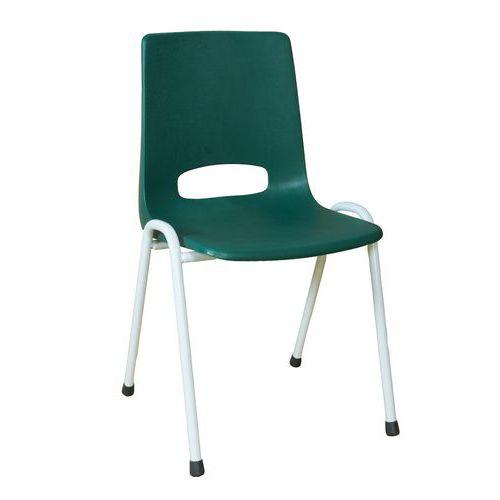 Plastová jídelní židle Pavlina Grey Light, zelená