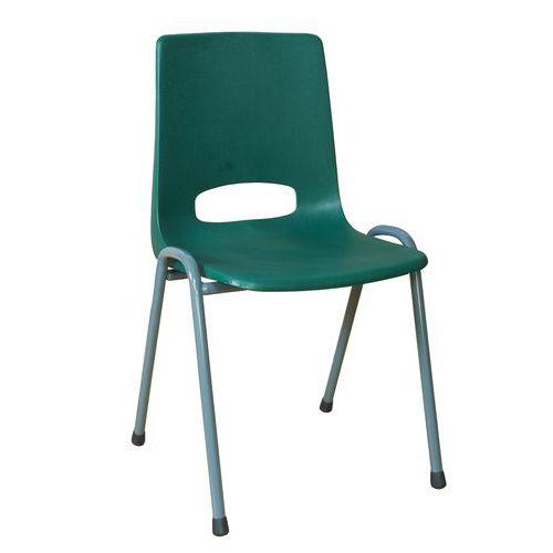 Plastová jídelní židle Pavlina Grey, zelená