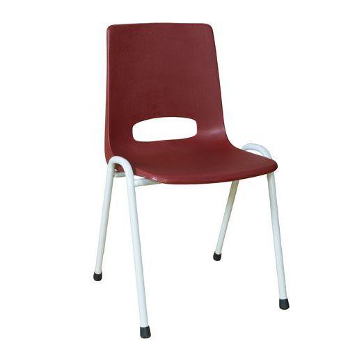 Plastová jídelní židle Pavlina Grey Light, bordó