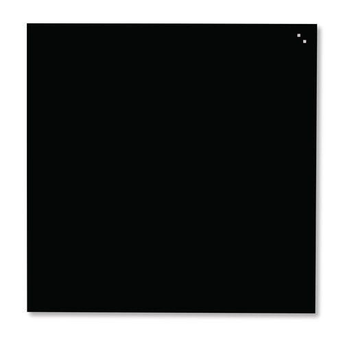 Skleněná magnetická tabule Primrose, 1 000 x 1 000 mm, černá