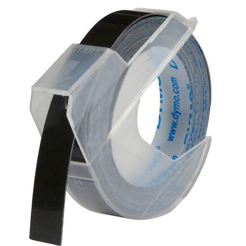 Dymo originální páska do tiskárny štítků, Dymo, S0898130, černy podklad, 3m, 9mm, baleno po 10 ks, cena za 1 ks, 3D