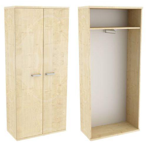 Vysoká šatní skříň Abonent, 183,1 x 80 x 40 cm, s dvířky, dezén