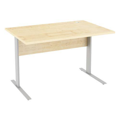Kancelářský stůl Abonent s přední clonou, 120 x 80 x 75 cm, rovné provedení, dezén javor