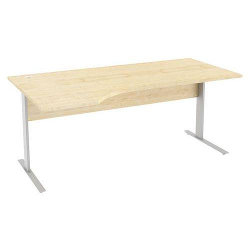 Ergo kancelářský stůl Abonent, 180 x 100 x 75 cm, levé provedení, dezén javor - Prodloužená záruka na 10 let