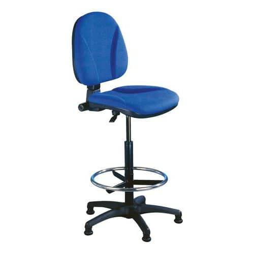 Pracovní židle Ergo s kluzáky, modrá