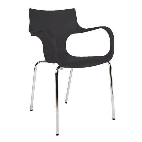Plastová jídelní židle Maria, černá