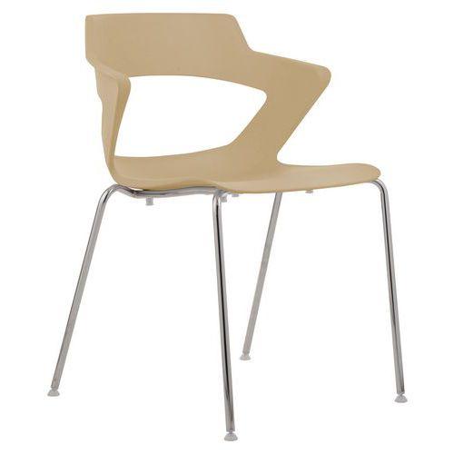 Plastová jídelní židle Aoki, béžová