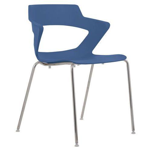 Plastová jídelní židle Aoki, modrá