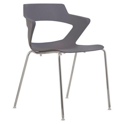Plastová jídelní židle Aoki, šedá