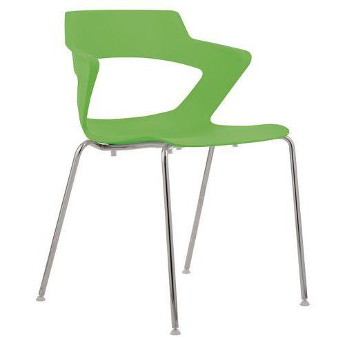 Plastová jídelní židle Aoki, zelená