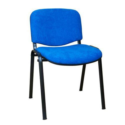 Konferenční židle ISO Velours Black, modrá