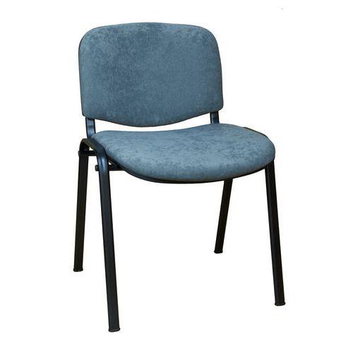 Konferenční židle ISO Velours Black, šedá