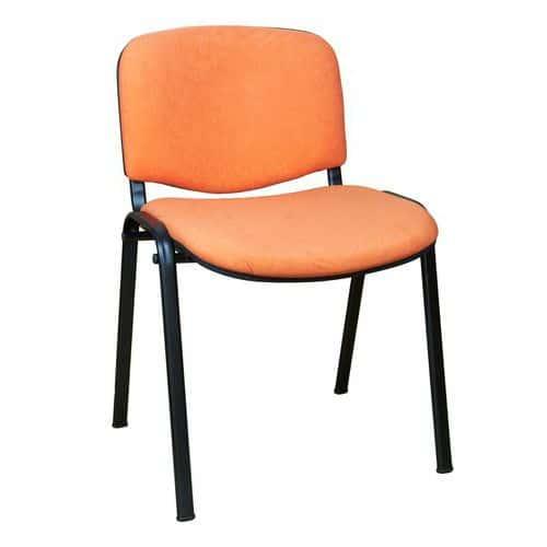 Konferenční židle ISO Velours Black, oranžová