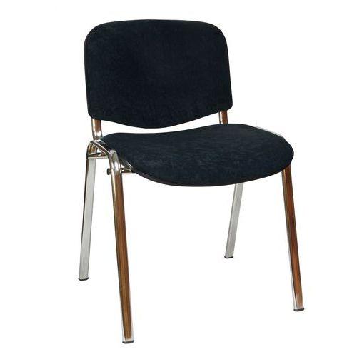 Konferenční židle ISO Velours Chrom, černá