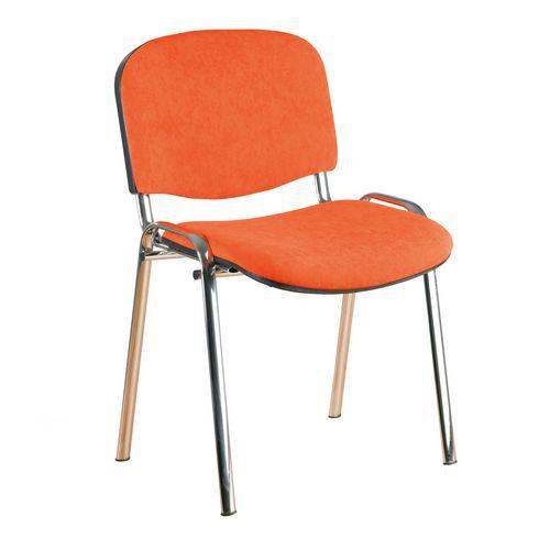 Konferenční židle ISO Velours Chrom, oranžová