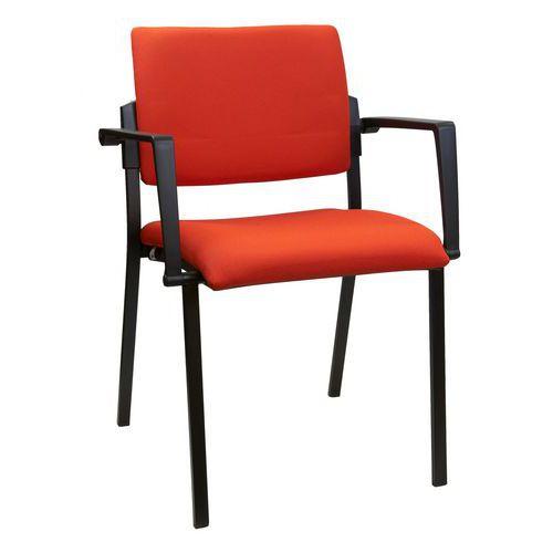 Konferenční židle Square Black, oranžová
