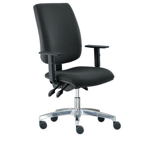 Kancelářská židle Yoki Lux, černá - Prodloužená záruka na 10 let