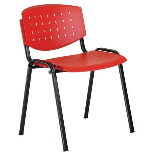 Plastová jídelní židle Layer, červená