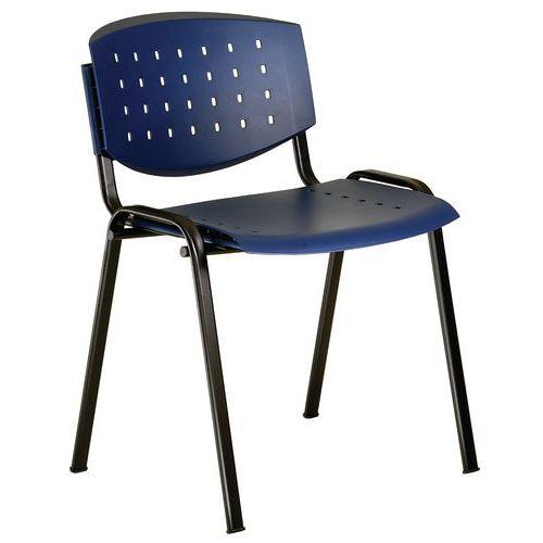 Plastová jídelní židle Layer, modrá