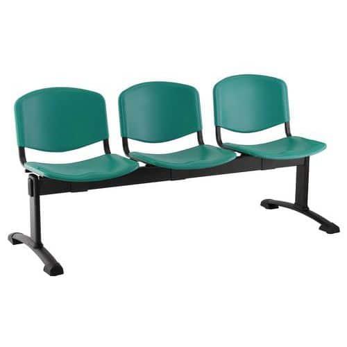 Plastová lavice Ida, třímístná, zelená