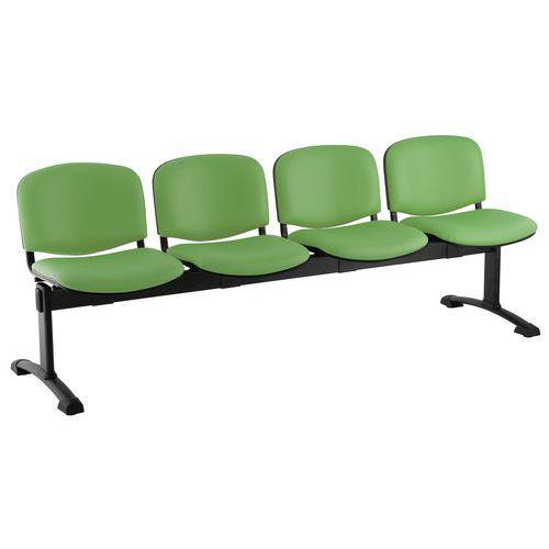 Koženková lavice Ida, čtyřmístná, zelená