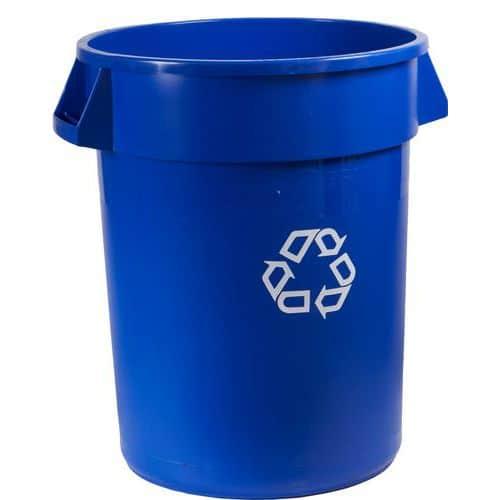Plastový kontejner Rubbermaid Brute na tříděný odpad, objem 121 l