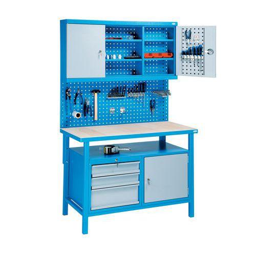 Svařovaný dílenský stůl Rivt, 205 x 120 x 60 cm - Prodloužená záruka na 10 let