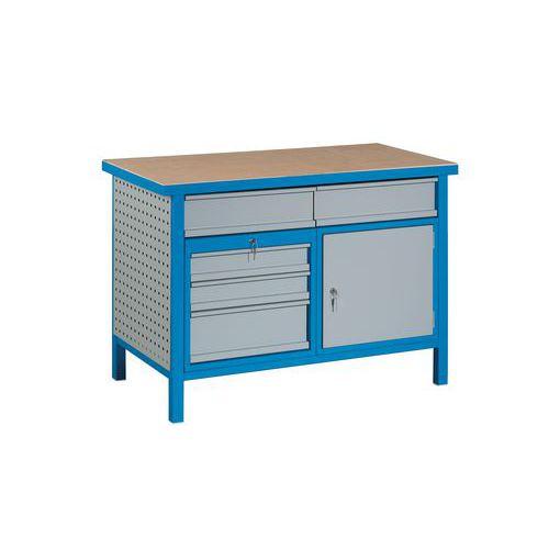 Svařovaný dílenský stůl Perfekt, 85 x 120 x 60 cm - Prodloužená záruka na 10 let
