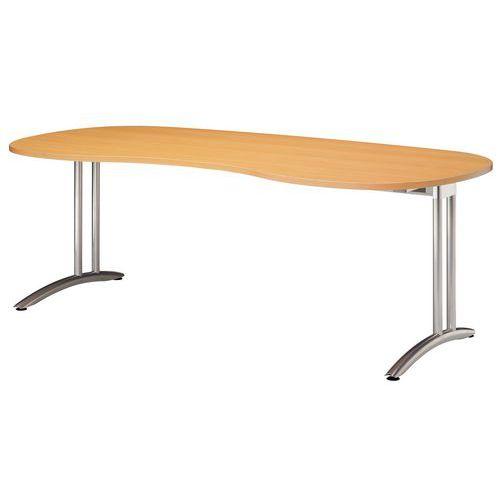 Ergo stůl Baron Miro, 200 x 100 x 72 cm, oblé provedení, dezén buk - Prodloužená záruka na 10 let