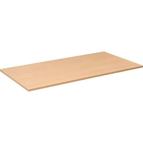 Deska jednacího stolu Combi, 160 x 80 cm, rovná, dezén buk