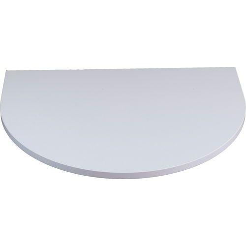 Deska jednacího stolu Combi, 80 x 60 cm, 1/2 kruh, šedá