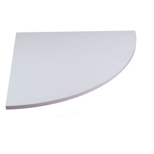 Deska jednacího stolu Combi, 80 x 80 cm, 1/4 kruh, dezén buk