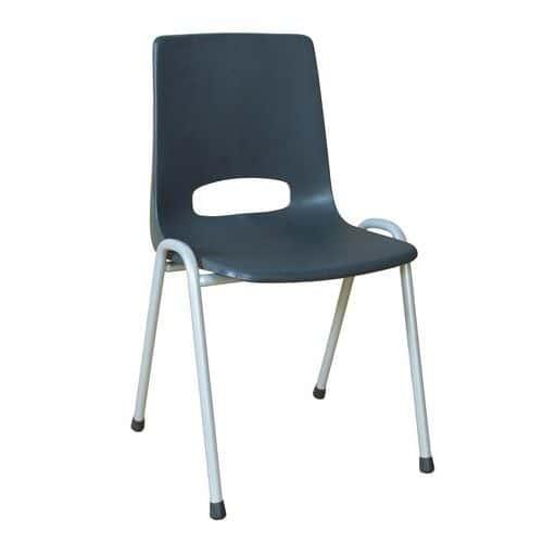 Plastová jídelní židle Pavlina Grey, antracit